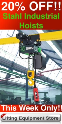 25% off Stahl Industrial Hoists, This week ONLY!