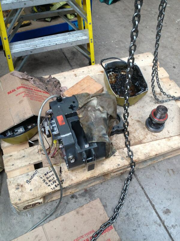 Gis Hoist in for repair