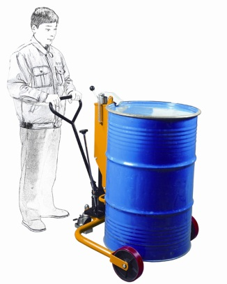 Easy to use, simply push down on the pump which once clipped to the Drum will lift and hold the drum. The wheels and bars stabilise the load.